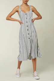 O'Neill Vertical-Grey Stripe Dress - Front cropped