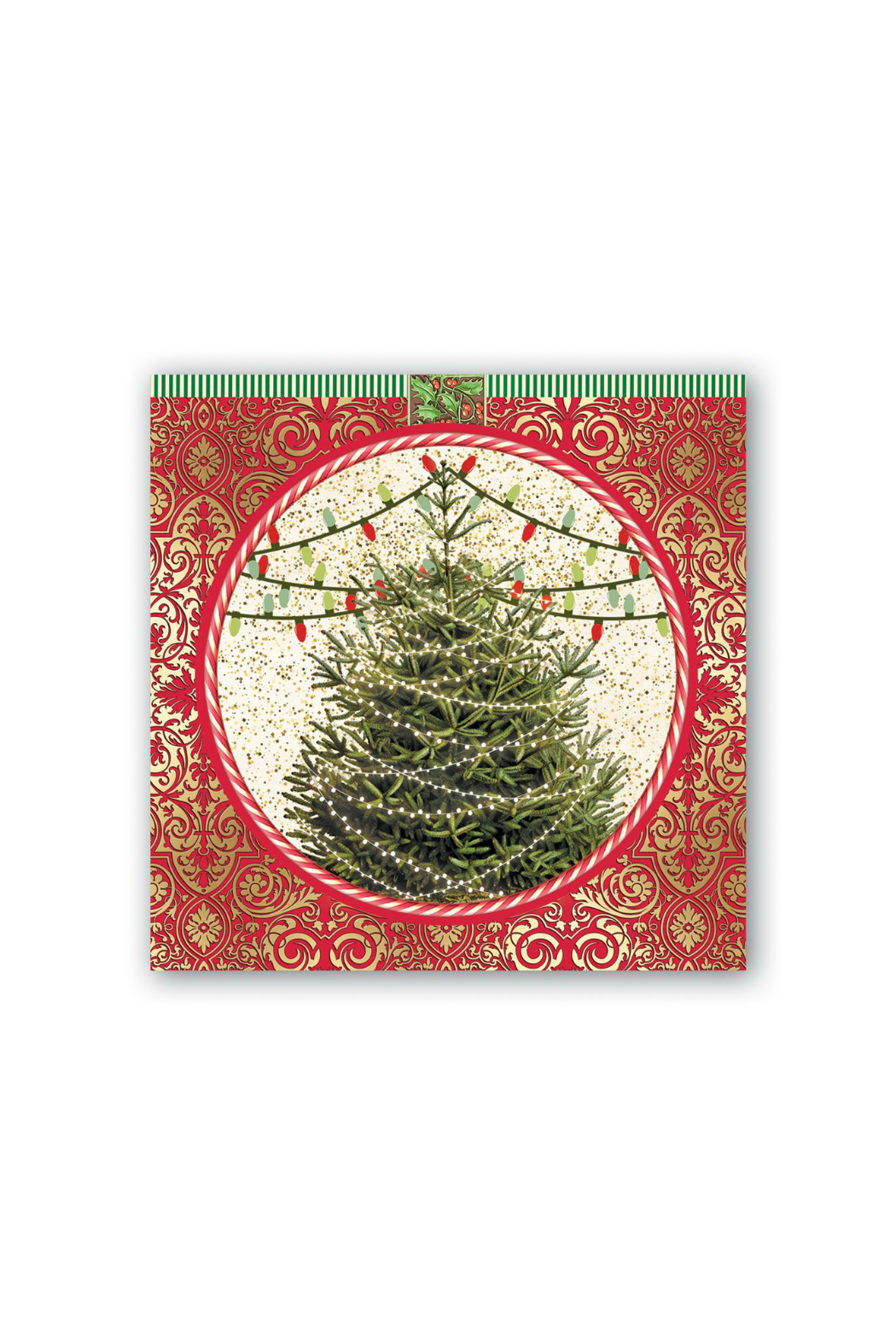 Michel Design Works O Tannenbaum Hostess Napkin - Front Cropped Image
