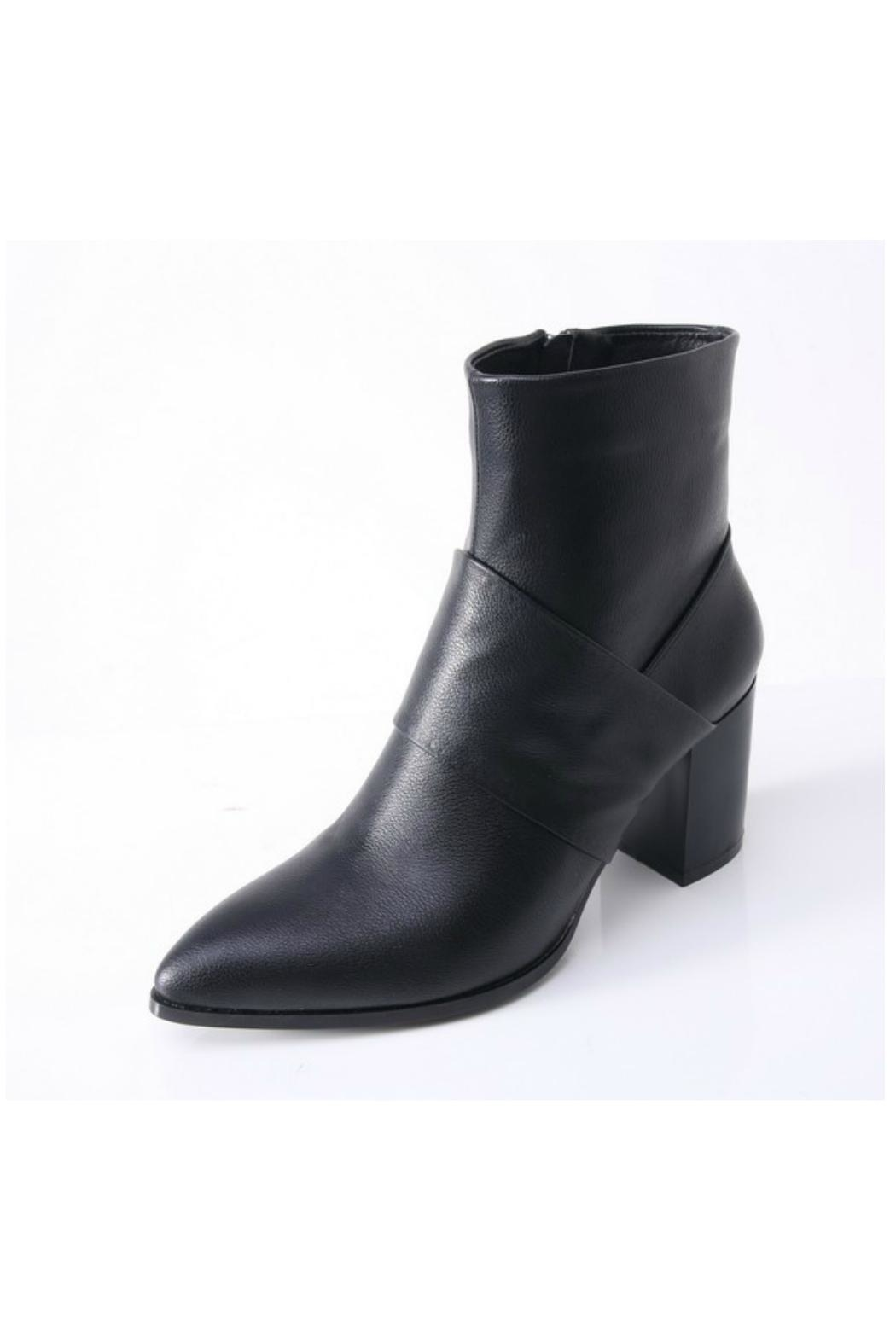 O-Zone Chunky Heel Bootie - Front Cropped Image