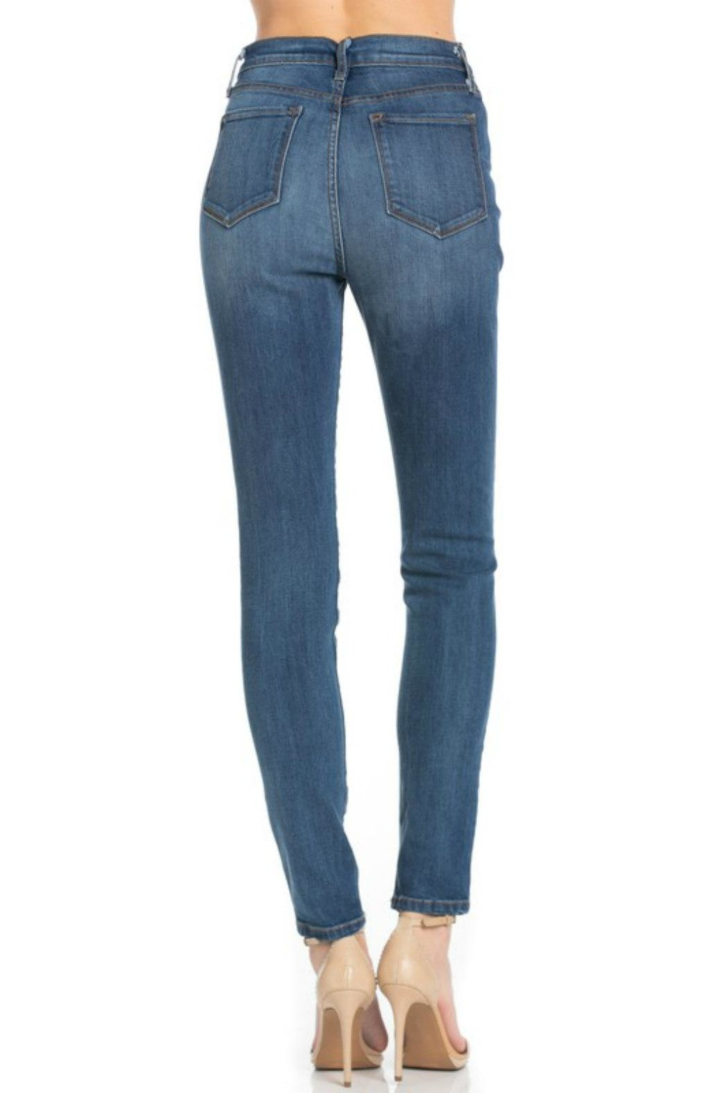 O2 Denim High-Waist Denim Skinny - Back Cropped Image