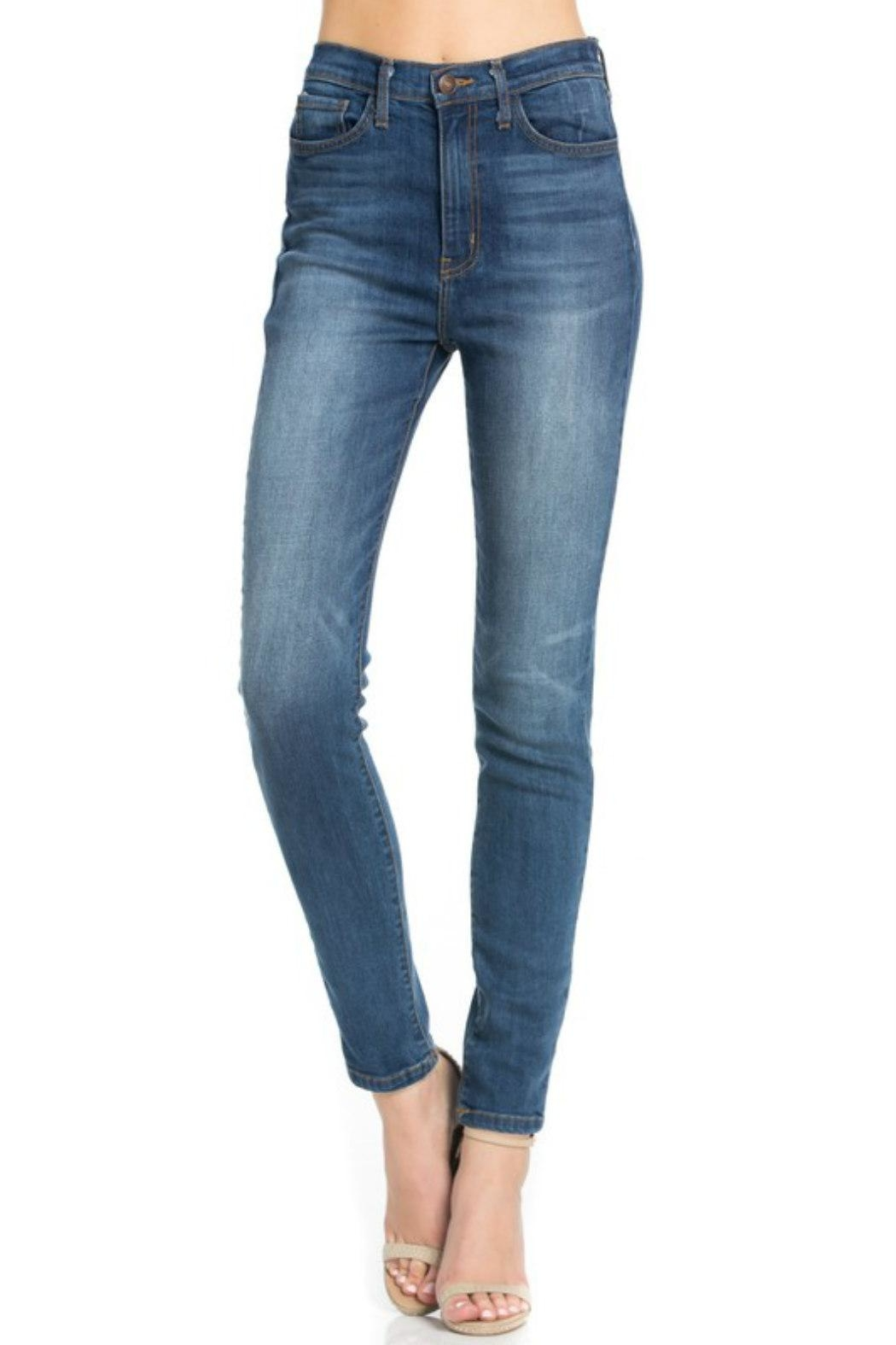O2 Denim High-Waist Denim Skinny - Front Full Image