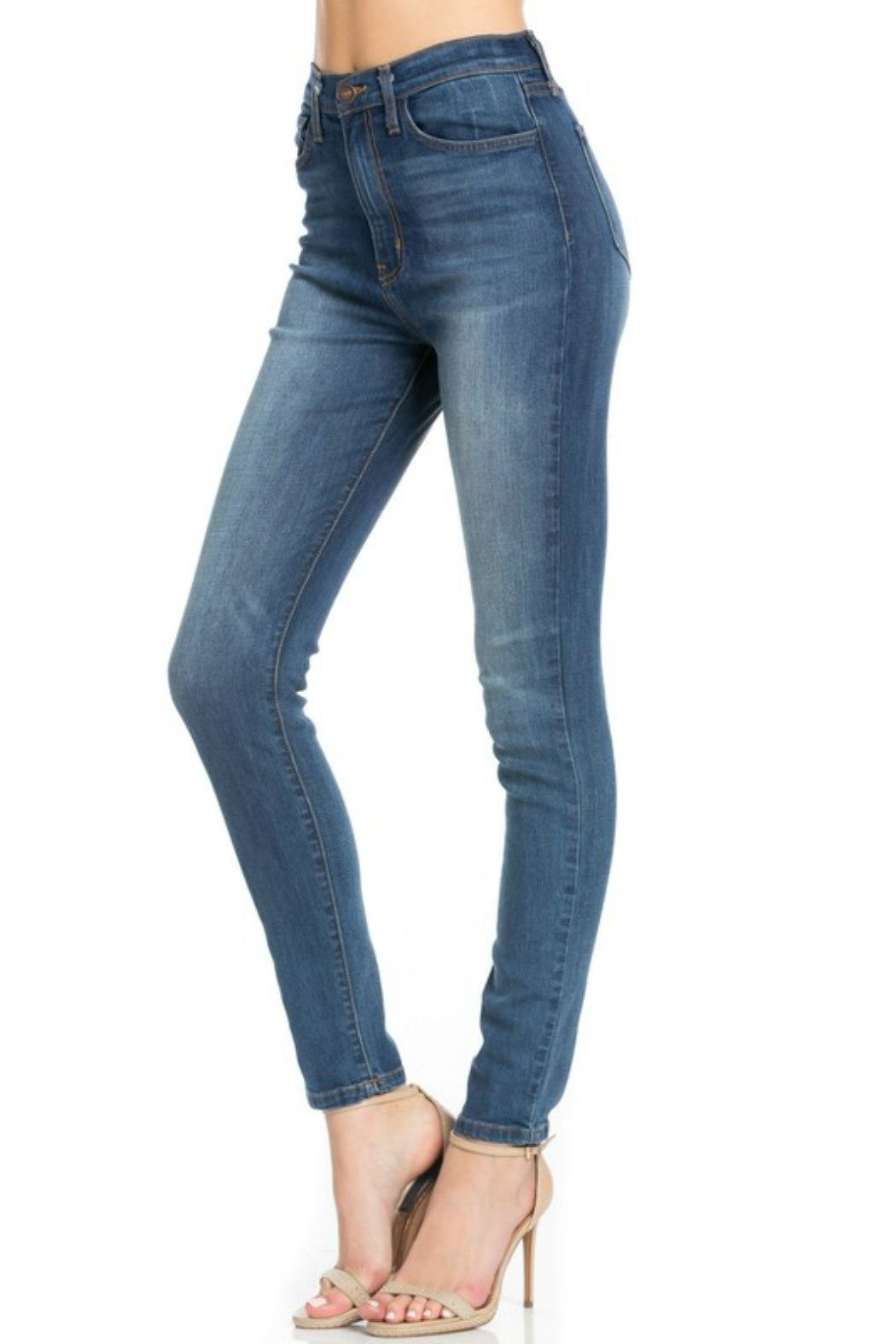 O2 Denim High-Waist Denim Skinny - Side Cropped Image