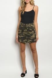 O & O Olive Camouflage Skirt - Product Mini Image