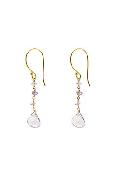 Shoptiques Product: Amethyst And Gold Earrings