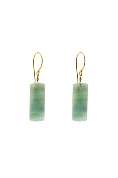 Shoptiques Product: Gold Plated Amazonite Earrings