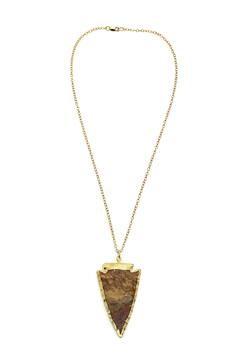 Shoptiques Product: Gold Plated Arrowhead Necklace