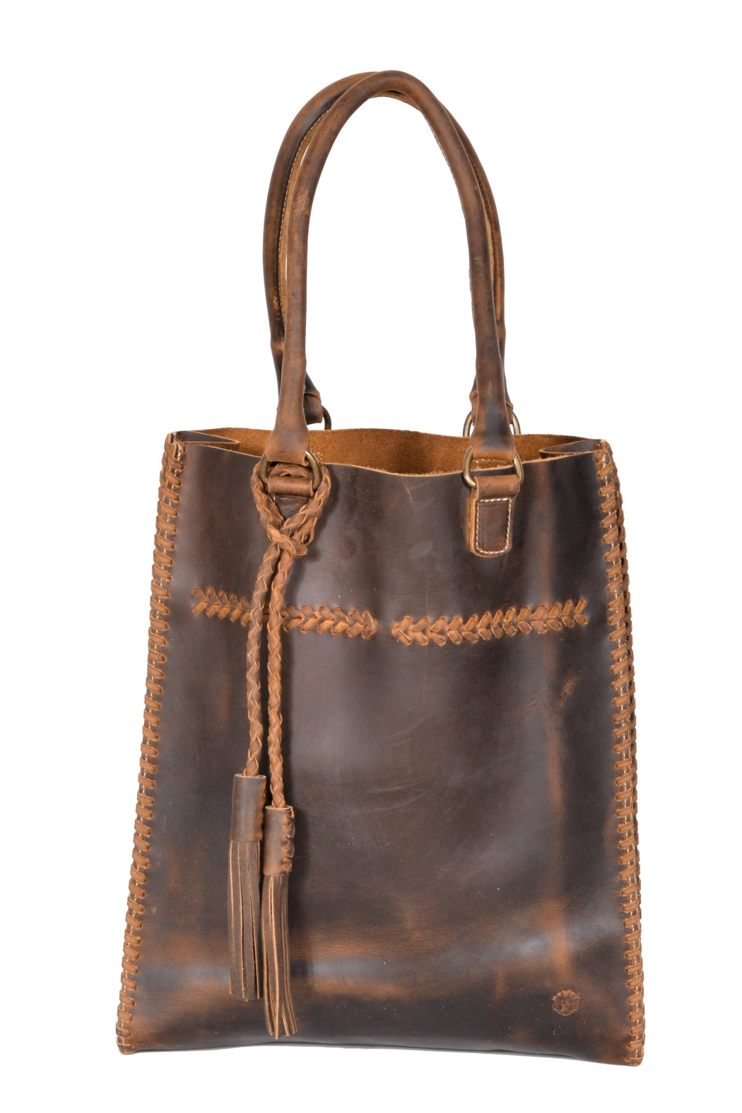 Oak River Company Leather Braided Tote - Main Image