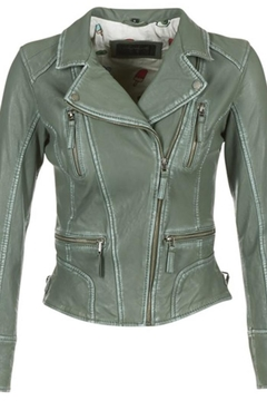 Oakwood Olive Leather Jacket - Alternate List Image