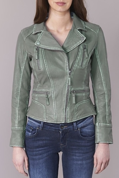Oakwood Olive Leather Jacket - Product List Image
