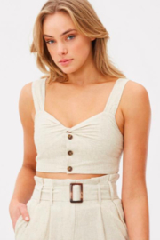 Charlie Holiday Oasis Crop Top - Product Mini Image