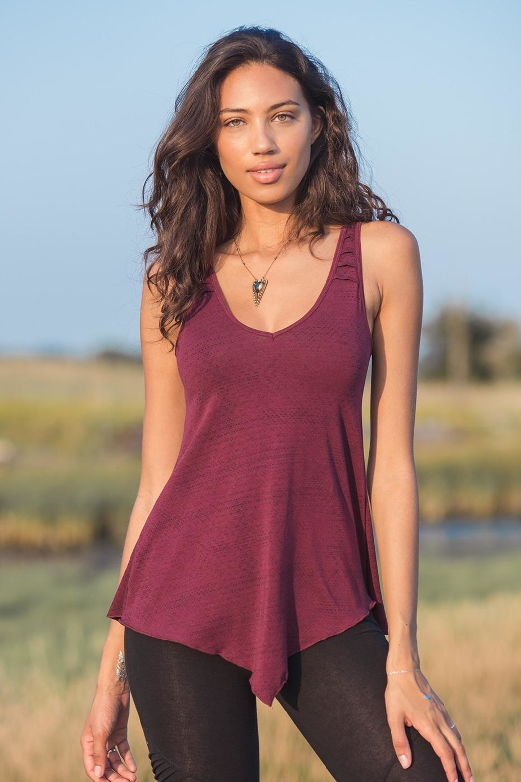 Nomad Hempwear Oasis Tank Top - Front Full Image