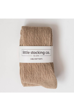 Little Stocking Co Oat Cable Knit Tights - Alternate List Image