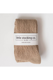 Little Stocking Co Oat Cable Knit Tights - Product Mini Image