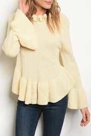 LoveRiche Oatmeal Bell Sweater - Product Mini Image