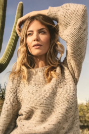 Tribal Jeans Oatmeal Cable Sweater - Product Mini Image