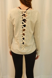 Sundays Oatmeal Lace-Up Sweatshirt - Product Mini Image