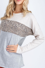 12pm by Mon Ami Oatmeal Leopard Sweater - Side cropped