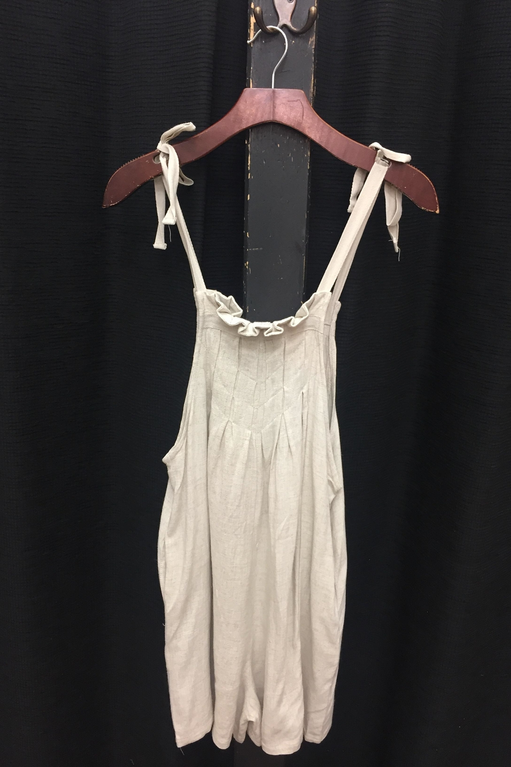 LoveRiche Oatmeal Romper - Front Full Image