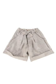 Malvi & Co. Oatmeal Shorts. - Front cropped