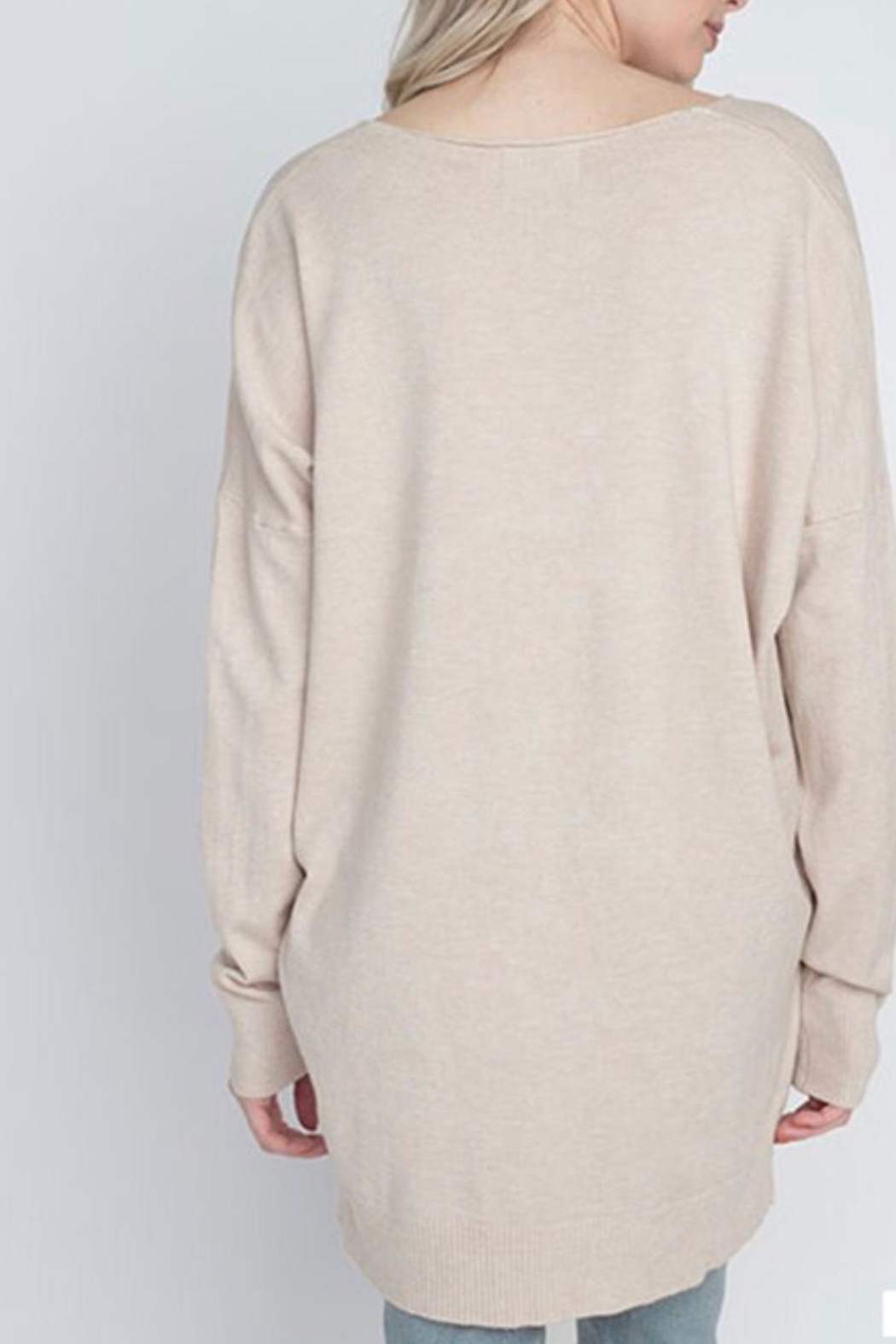 Dreamers Oatmeal Soft Sweater - Front Full Image
