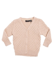 Rock Your Baby Oatmeal Vintage Cardigan - Front cropped