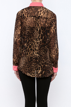 OB2-12 Leopard Print Blouse - Alternate List Image