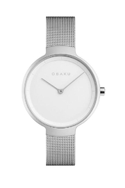 Obaku Birk Steel Watch - Front cropped