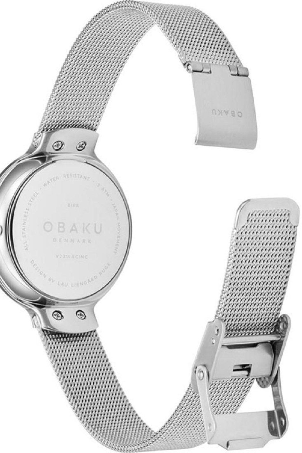 Obaku Birk Steel Watch - Back Cropped Image