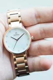Obaku Glad Fuchsia Watch - Back cropped