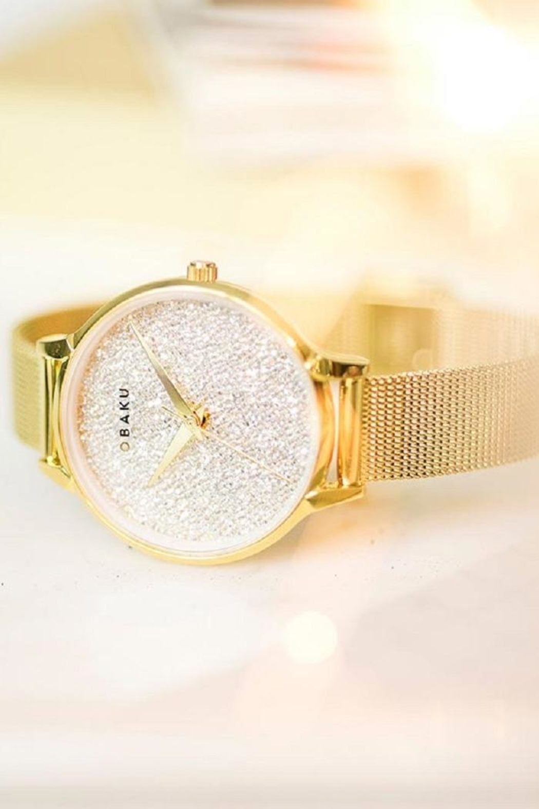 Obaku Stjerner Gold Watch - Front Full Image
