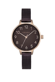Obaku Syren Walnut Watch - Front cropped