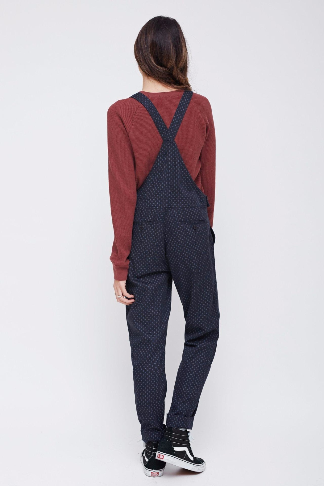 Obey Patterned Bib Overalls - Side Cropped Image