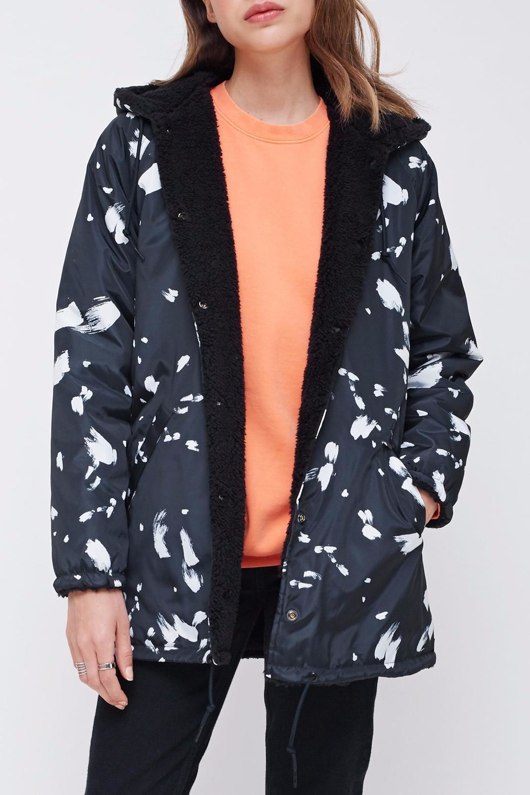 Obey Reversible Sherpa Coat - Front Cropped Image