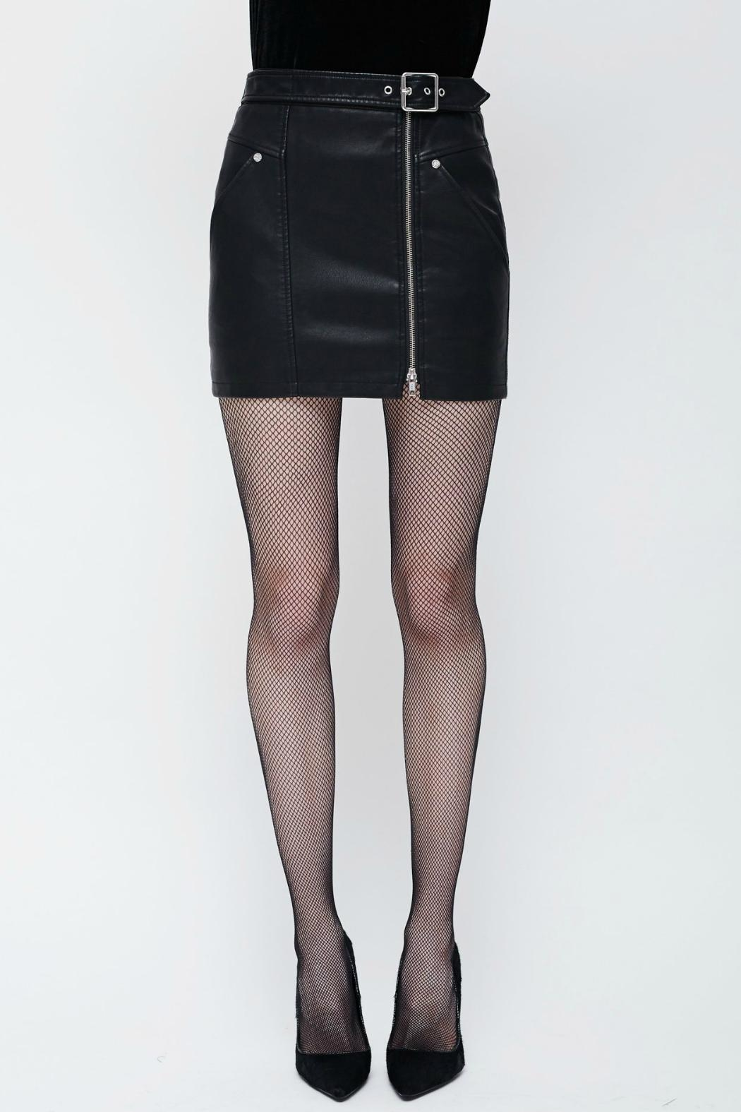 Obey Vegan Moto Skirt - Front Cropped Image
