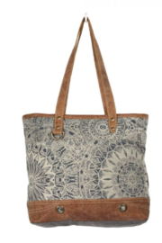 MarkWEST-Myra Bag Object d'art Leather Strip Tote Bag - Product Mini Image