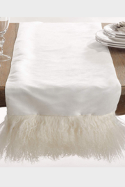 The Birds Nest Oblong Mongolian Lamb Fur Runner Ivory - Product Mini Image