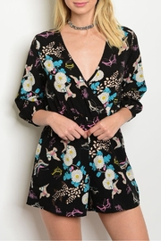 Oboe Birds Floral Romper - Product Mini Image