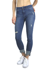 Tractr Blu Obsession Mid-rise Ankle Jean - Product Mini Image