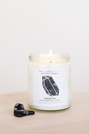 JaxKelly Obsidian Crystal Candle - Product Mini Image