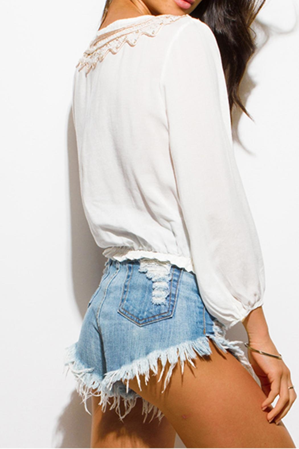 OC Avenue Boho Tie Blouse - Side Cropped Image