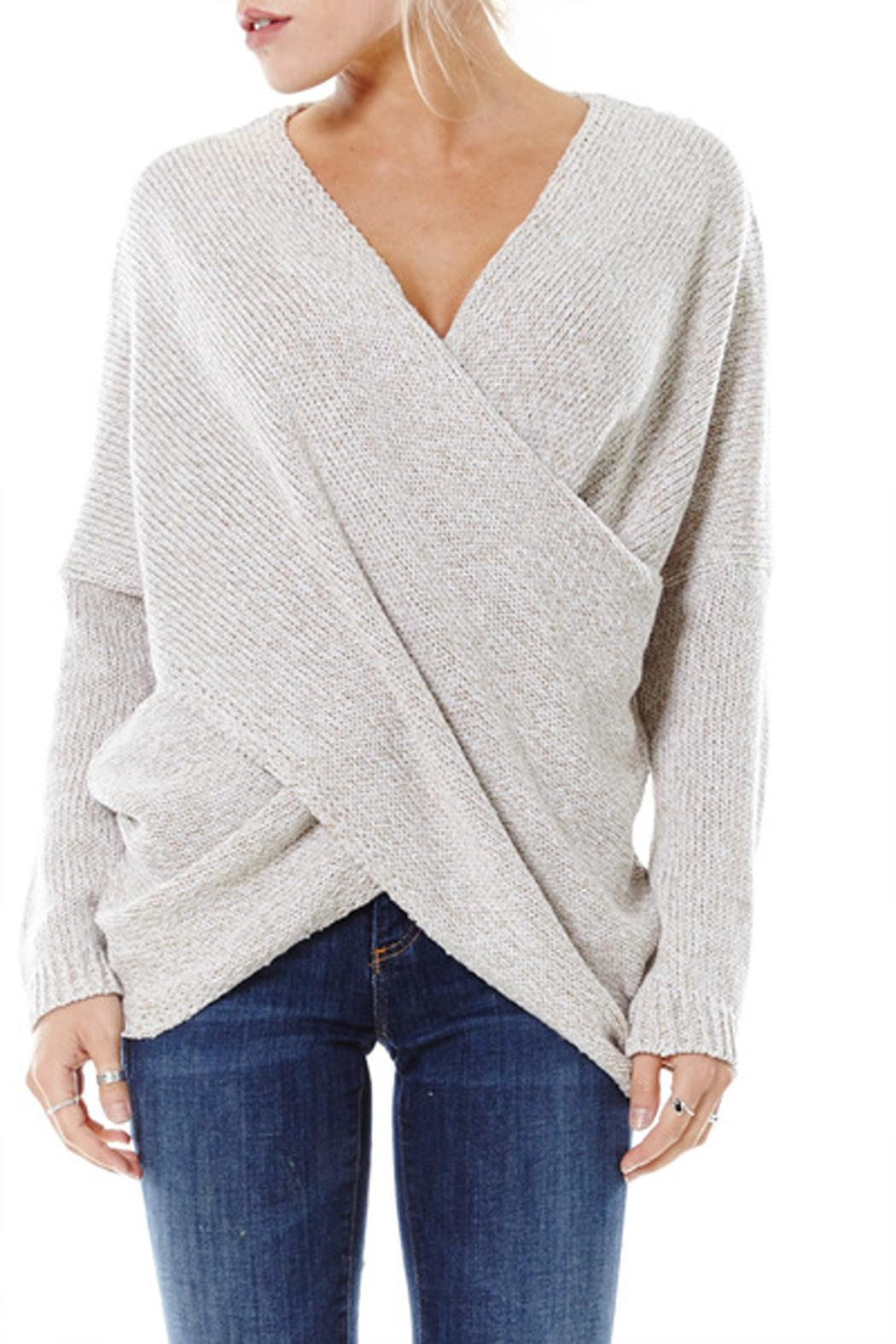 grey gallery draped clothing sweater product gray drapes in gucci normal lyst