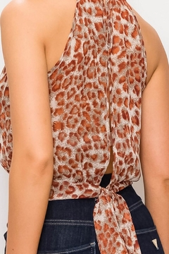 OC Avenue Halter Cheetah Top - Alternate List Image