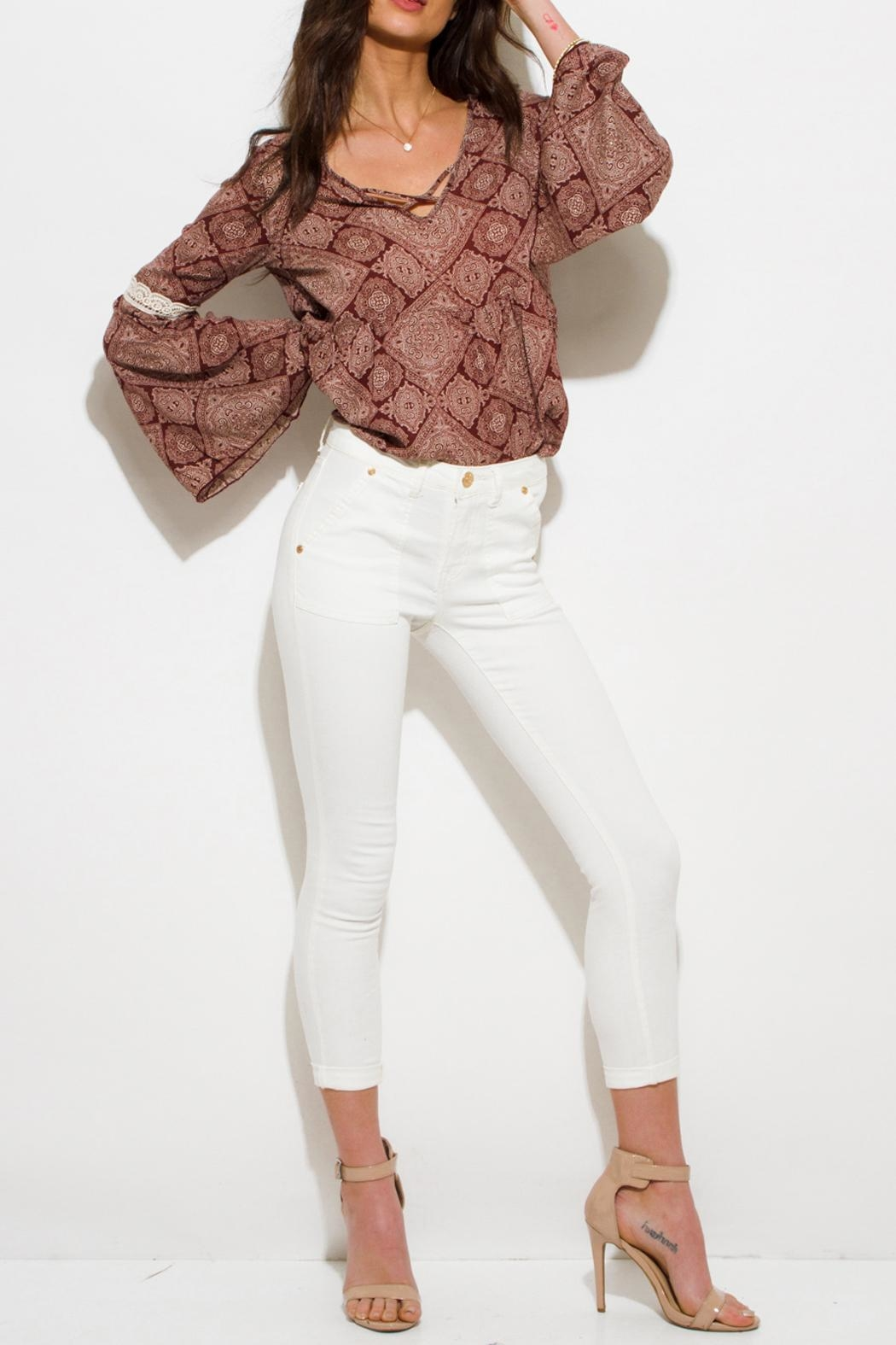 OC Avenue Dionne Skinny Capri Jeans - Front Cropped Image