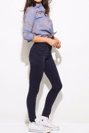 OC Avenue Stretch Navy Jeans - Side cropped