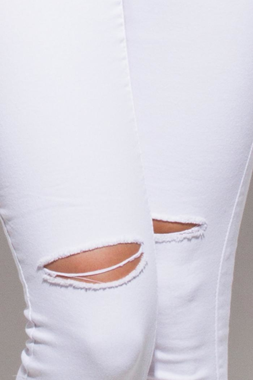 OC Avenue White Denim Jeans - Front Full Image
