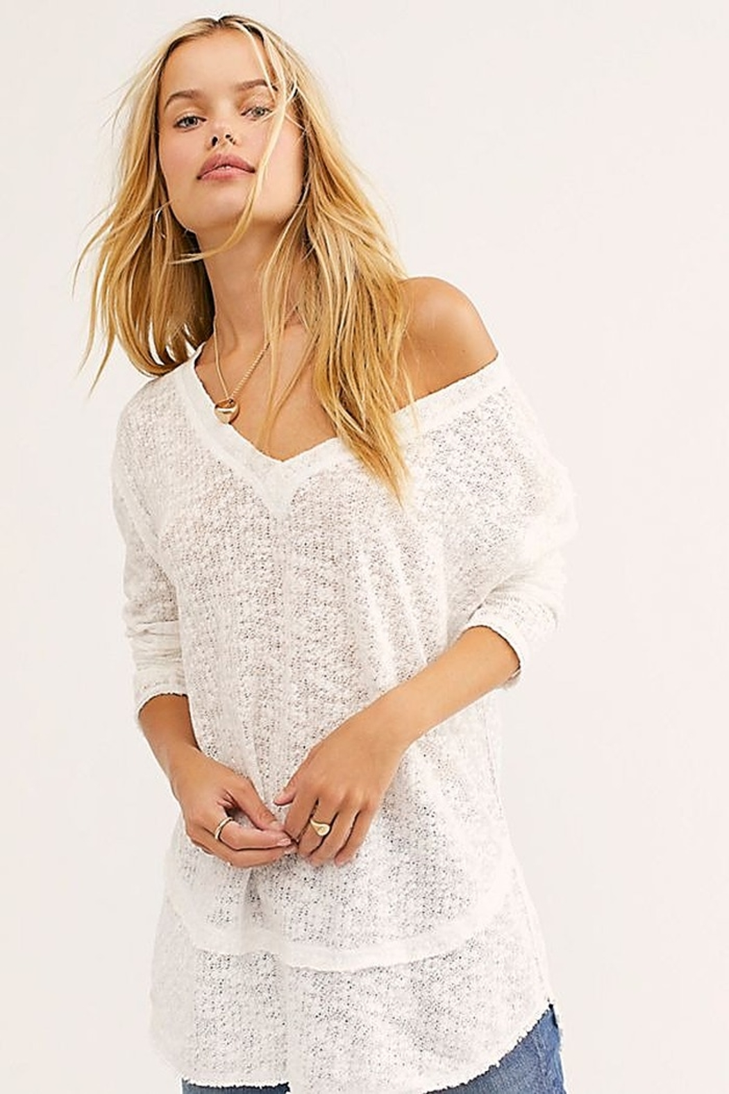 Free People Ocean Air Hacci - Front Cropped Image