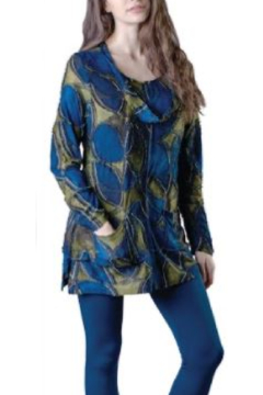 Papa Fashions Ocean and Olive Tunic - Product List Image