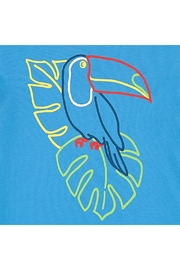Stella McCartney Kids Ocean-Blue Toucan T.Shirt - Front full body