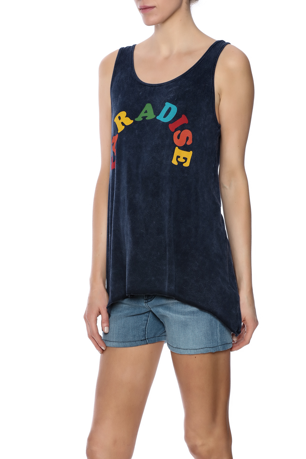 Ocean Drive Twist Back Tank - Front Cropped Image