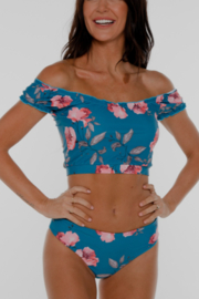Coral Reef Swimwear  Ocean Flower Off the Shoulder Swim Top - Product Mini Image